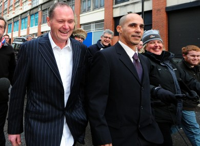 Paul Gascoigne leaves Newcastle Magistrates' Court after avoiding jail despite being caught driving while more than four times the legal alcohol limit.