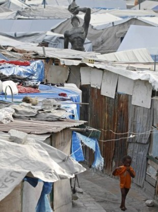 Around 1.3m people live in makeshift camps in Haiti