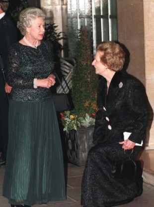 Alpha female: Even Margaret Thatcher had to creak at the knees to fulfill British royal etiquette
