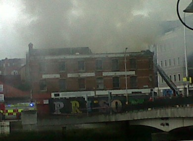 Earlier, Twitter user @martaricci posted this picture of smoke rising from the building