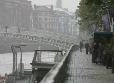 File photo of Dublin on a 'grey' day.
