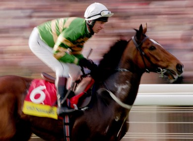 Charlie Swan on Istabraq in The Smurfit Champion Hurdle in 1999.