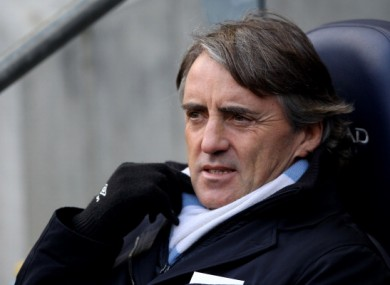 Roberto Mancini: in Lisbon tonight.