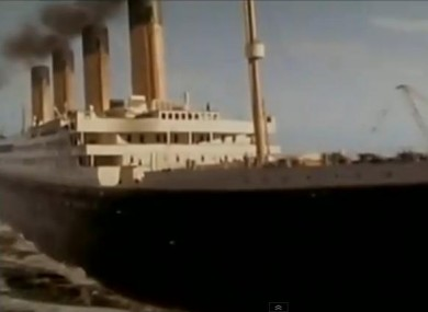 The ill-fated cruise liner, as depicted in the movie Titanic. The film hits the iceberg again this year, in 3D.