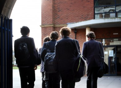 File photo of teenage boys at school