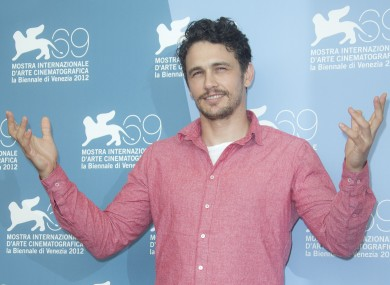 James Franco can also make it rain.