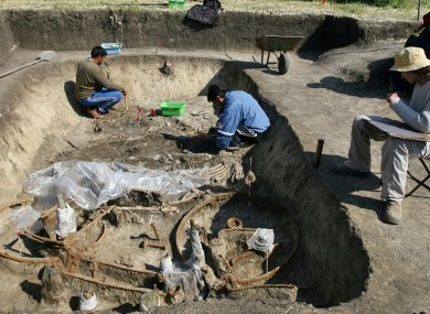 An archaeological dig in Bulgaria.