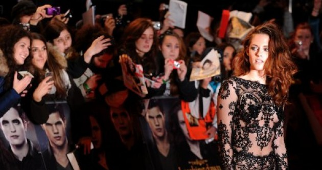 So Kristen Stewart's lace onesie was as uncomfortable as it looked…