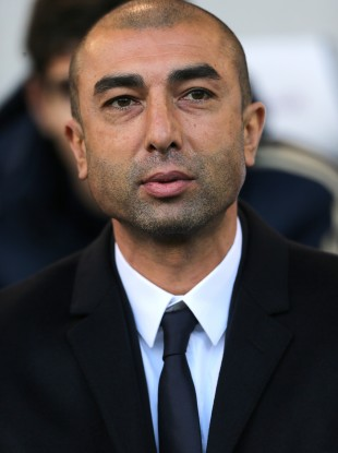 Roberto di Matteo on the sidelines at the weekend. Chelsea were beaten by West Brom.