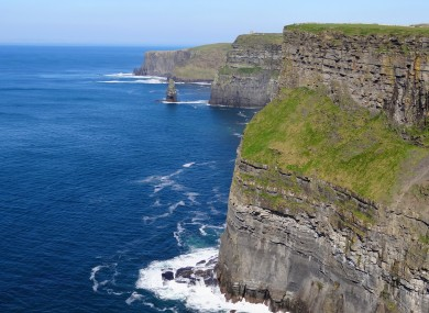 A view of the Cliffs of Moher in county Clare (File)