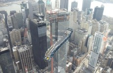 Pic: Incredible image of escalator being lifted to new World Trade Center
