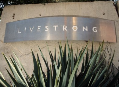 Signage for the Livestrong Foundation appears at the charity's headquarters.