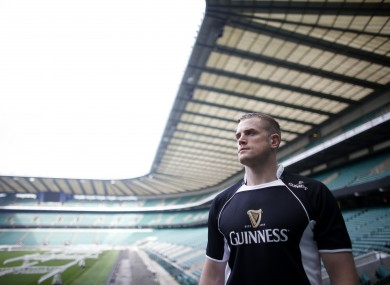 Jamie Heaslip pictured at the launch of GUINNESS' Made of More RBS 6 Nations campaign at Twickenham Stadium.