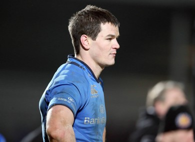 Leinster's Jonny Sexton after the game last night.