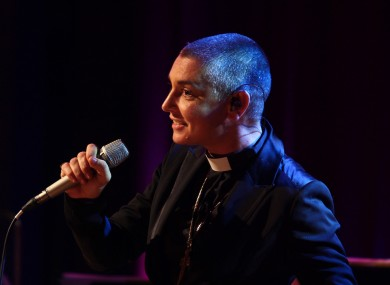 Sinéad O'Connor performs on the Late Late Show's 50th anniversary show. O'Connor is one of many acts whose careers have been helped by performances on the Late Late.