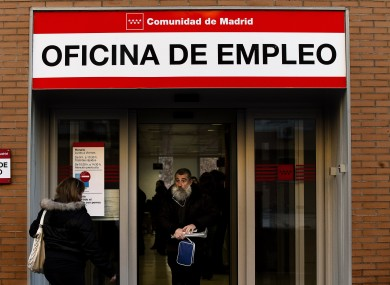 An unemployment office in Madrid, Thursday, Jan. 3 2013