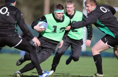 O'Driscoll set for 125th Ireland cap after steaming through training