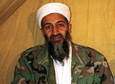 Undated photo of Osama bin Laden in Afghanistan
