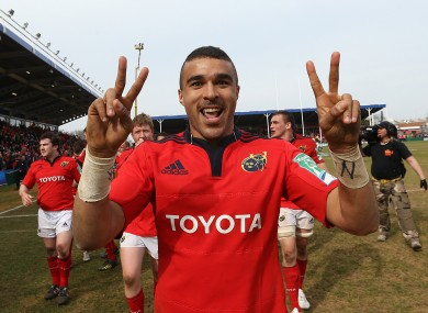 Simon Zebo has been shortlisted for the award.