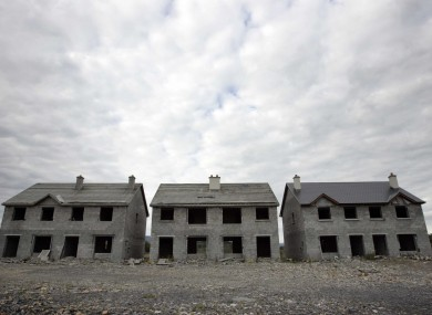 A ghost housing estate in Leitrim. Some ghost estates are exempt from paying the local property tax.