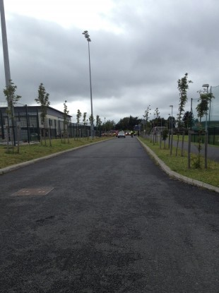 Ballinteer Community School evacuated after a suspicious material found in a lab there.