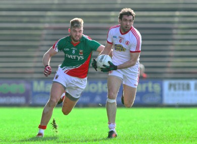 Joe McMahon of Tyrone and Mayo's Aidan O'Shea will face off today.
