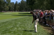 This awful shot sums up Phil Mickelson's day