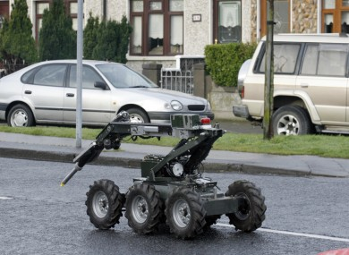 Army bomb squad equipment (File photo)