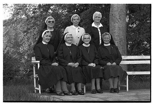 Nuns at family reunion