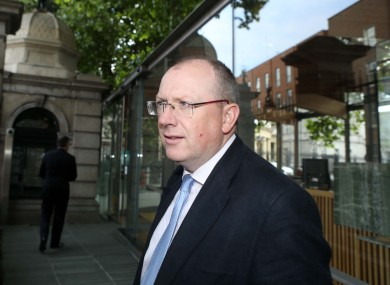 Jeremy Masding arrives at Leinster House today