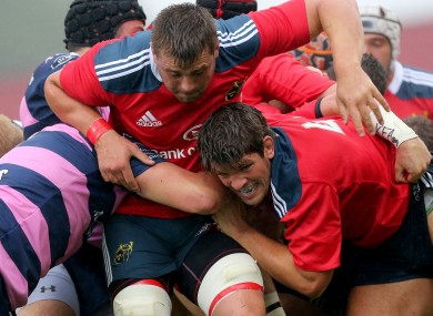 CJ Stander and Donncha O'Callaghan get their maul on against Gloucester.