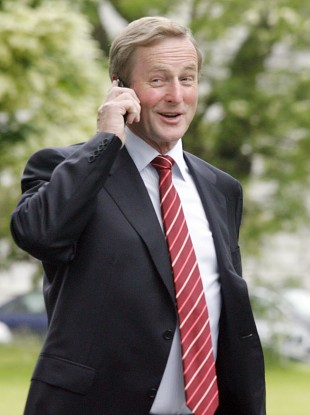 Enda Kenny on the phone, but who's listening?
