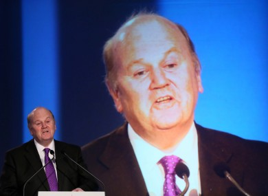 Michael Noonan at the Fine Gael national conference in Limerick.