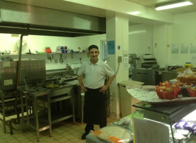 Assistant chef Tony in the Portland Row facility.