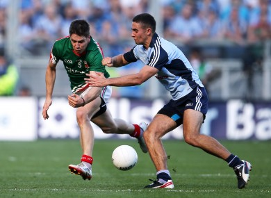 Mayo's Lee Keegan and James McCarthy of Dublin.