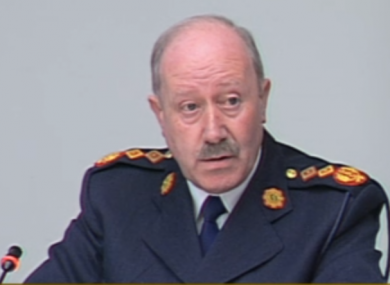 Garda Commissioner Martin Callinan speaking at the committee.