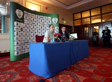O'Neill at yesterday's media briefing in Malahide.