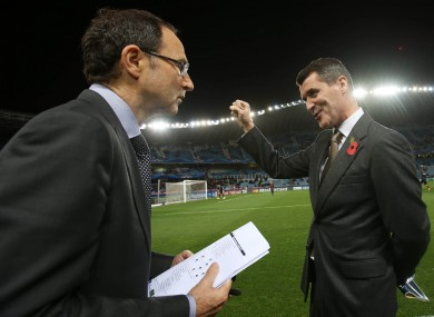 Keane and O'Neill in San Sebastien tonight.