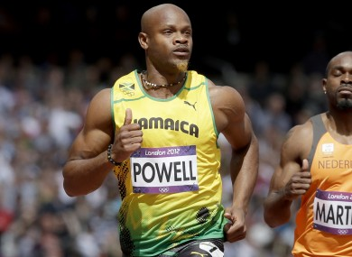 Asafa Powell failed a drugs test in the summer.