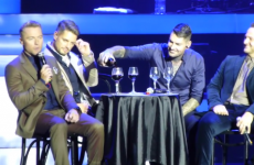 Boyzone's emotional tribute to Stephen Gately… by drinking wine at Dublin gig
