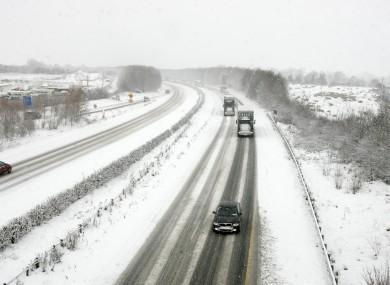 Snow and ice on the roads in 2010.