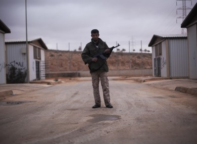 File photo of a checkpoint in Libya