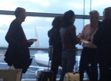 Michael O'Leary on hand to check boarding passes today.
