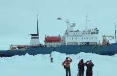 Helicopter to rescue passengers on science ship trapped in Antarctica