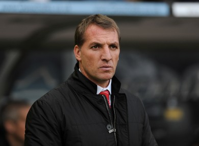 Brendan Rodgers pictured during the defeat to Hull City.