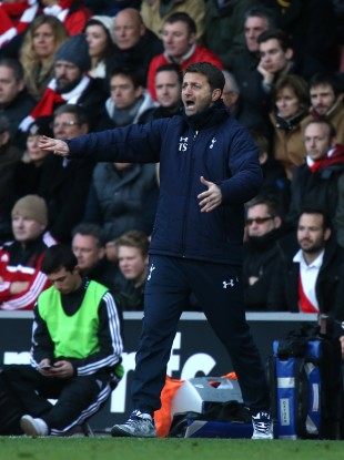 Sherwood on the touchline.