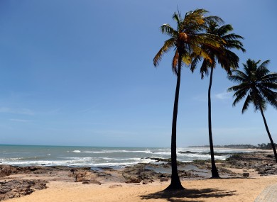 A general view of the area around Costa Do Sauipe, Salvador, where the World Cup draw will take place.