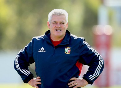 Gatland on Lions duty this year.