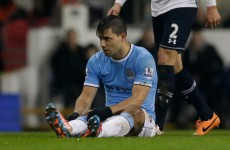 115-goal Man City will have to cope without Sergio Aguero for a month
