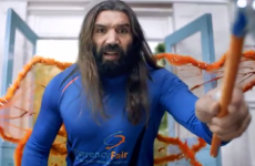 Sébastian Chabal goes from caveman to fairy in crazy advert
